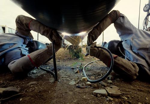 arc welders at work